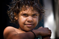 Young aboriginal child
