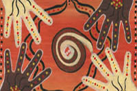 Indigenous hands artwork