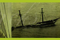 Old photo of wreck of Georgette